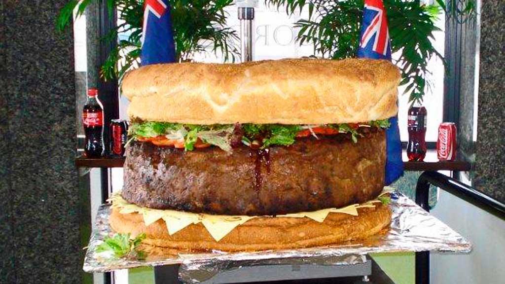 hamburger verdens største (Foto: APTN)