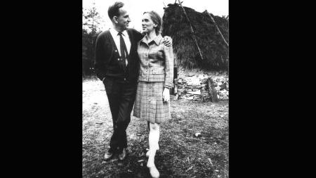 Ingmar Bergman og Liv Ullmann på Fårö, september 1967.