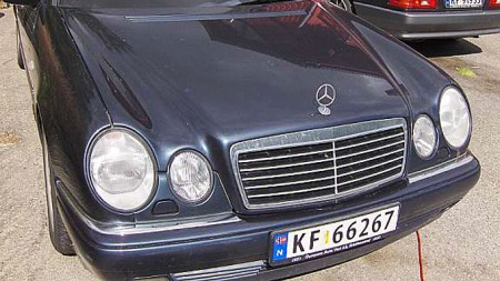 Mercedes-forfra (Foto: Privat)