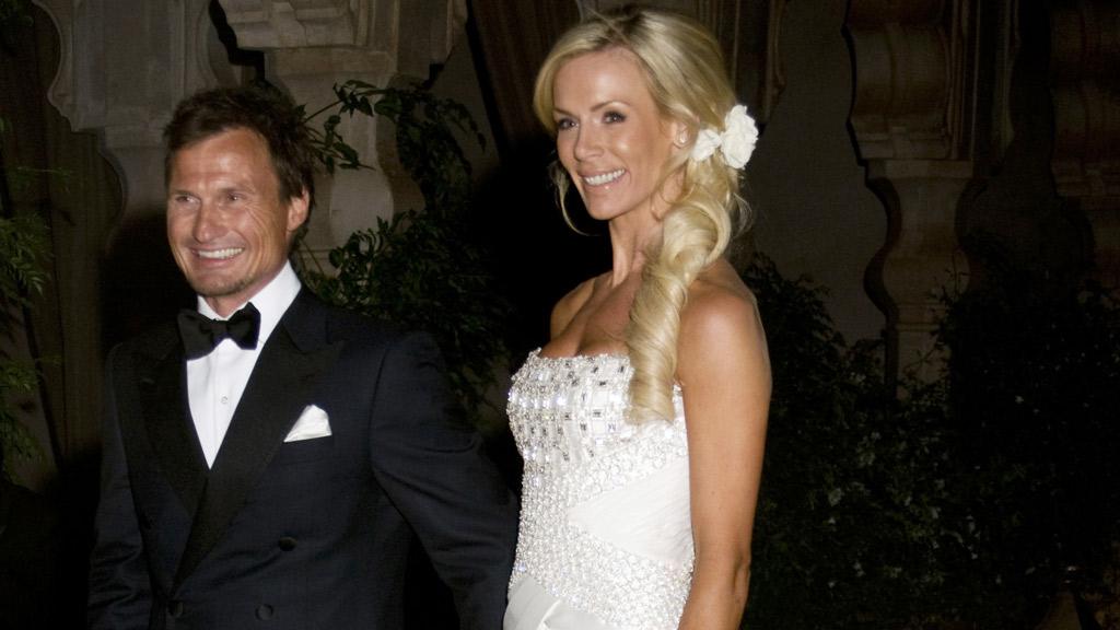 LYKKELIGE: Petter Stordalen og Gunhild Melhus giftet seg lørdag kveld.  (Foto: Scanpix)