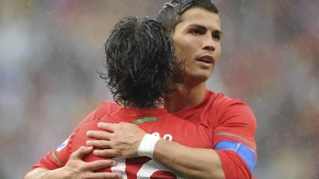 Ronaldos scoring mot Nord-Korea var hans første for landslaget   på elleve kamper. (Foto: RODGER BOSCH/Afp)