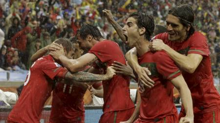 Portugal scoret sju mot Nord-Korea. (Foto: Schalk van Zuydam/Ap)