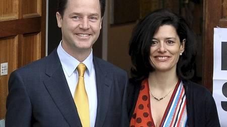 Nick Clegg og Miriam Gonzalez Durantez (Foto: ANDREW YATES/Afp)