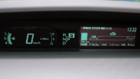 Et display som forteller deg det meste om hva som skjer, hvor mye strøm du har igjen og økonomisk du kjører.  (Foto: Benny Christensen)