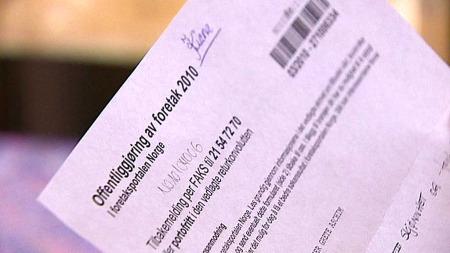 SVINDELBREV: Grete Aschim ble lurt av dette brevet fra Foretaksportalen Norge.  (Foto: Magnus Nøkland/TV 2)