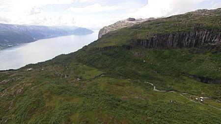 KRAFT-JA: Her kommer den nye kraftledningen fra Sima til Samnanger.   (Foto: Geir Huneide)