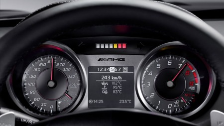 Mercedes-SLS-dashbord