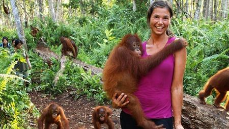 Silje Hvarnes jobber som villdyrlege i Borneo. (Foto: Gaute Grøtta Grav)