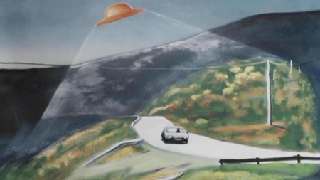 HESSDALEN: Illustrasjon av en opplevelse Ruth Mary Moe forteller   om i filmen.