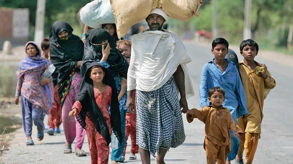 Pakistan flomofre Muzaffargarh distriktet i Punjab  (Foto: AP)