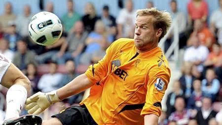 Jaaskelainen kan få sin 350. Premier League kamp for Bolton.   (Foto: Anthony Devlin/Ap)