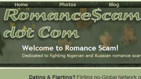 romancescam (Foto: skjermdump romancescam.com)