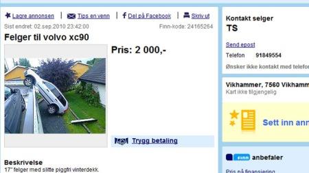 Her er annonsen - som ga umiddelbare resultater! Faksmilie fra www.finn.no.