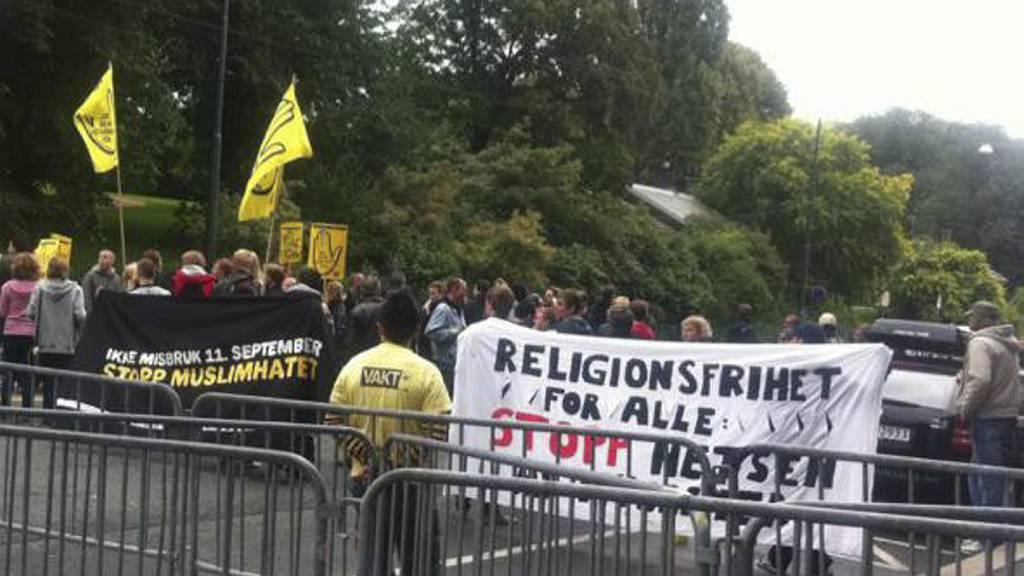 ROLIG: Ingen uroligheter under demonstrasjonen i Oslo lørdag. (Foto: Sissel Randsborg/TV 2/)