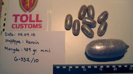 STORT BESLAG: Tollvesenet omtaler 0,5 kg som et betydelig beslag.  (Foto: Tollvesenet)
