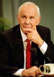 Talkshow-kongen Johnny Carsons død skulle sikre Mark David Chapman evig berømmelse, ifølge Chapman selv. ( ©Scanpix)