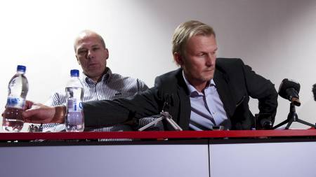 Roald Bruun-Hanssen og Lars Moldestad - Brann (Foto: Hommedal, Marit/SCANPIX)