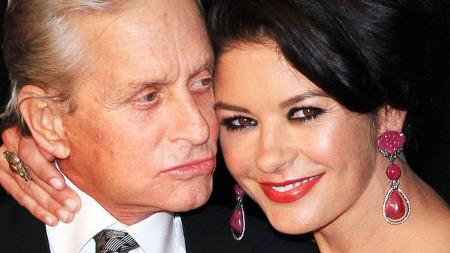 SYK: Michael Douglas får støtte fra kona Catherine Zeta Jones