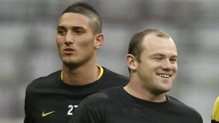 IKKE FAN AV ROONEY: Federico Macheda   beskriver Wayne Rooney som vulgær. (Foto: Martin Rickett/Pa Photos)
