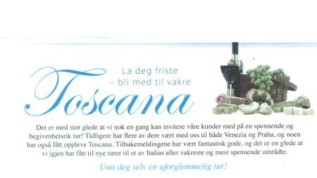 Toscana-reklame (Foto: Faksimile )