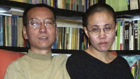 Menneskerettighetsaktivisten Liu Xiaobo med sin kone Liu Xia. (Foto: AFP/Afp)
