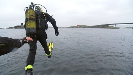 dykker (Foto: TV 2/Espen Aarebrot-Heiestad)