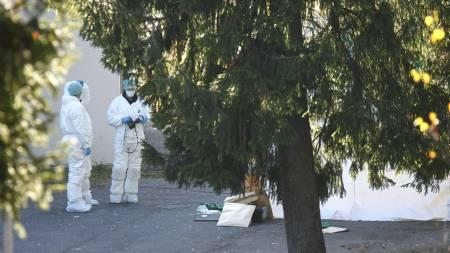 En død naken kvinne er blitt funnet I skolegården på Tokerud skole på Stovner i Oslo søndag morgen. (Foto: Andersen, Aleksander/Scanpix)