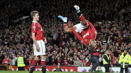 Manchester United har ikke tapt en ligakamp Nani har startet   siden april 2008. (Foto: Martin Rickett/Pa Photos)