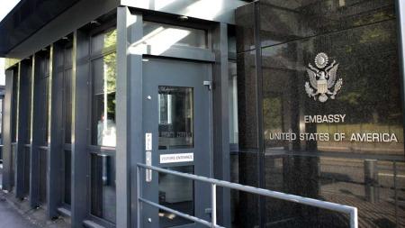 LOVER SAMARBEID: USAs ambassade i Oslo. (Foto: Knut Falch)