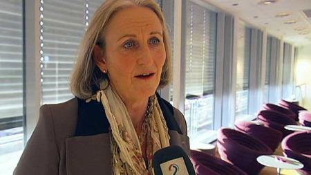 SPARER IKKE I JULA: Administrerende direktør Vibeke Madsen Hammer i HSH spår en økning i julehandelen på fem prosent. (Foto: TV 2)