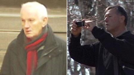 OVERVÅKET: Olaf Johan Johansen (71) og Gunnar Tveit (63) har begge arbeidet i overvåkningsgruppen Surveillance Detection Unit (SDU).  (Foto: TV 2)