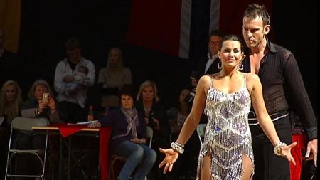 Katrine Moholt og Carsten Skjelbreid under NM i dans.TV 2 (Foto: TV 2)