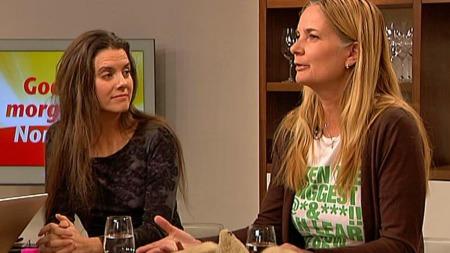 Siri Martinsen fra NOAH og Tone Skårdal Tobiassen fra NICE    (Foto: TV 2)