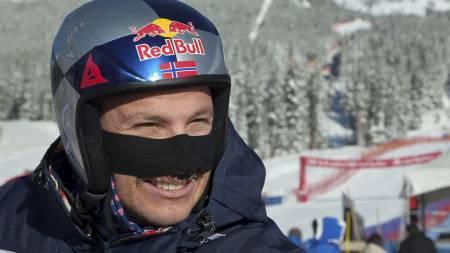BEST MED BART: Aksel Lund Svindal. (Foto: ANDY CLARK/Reuters)