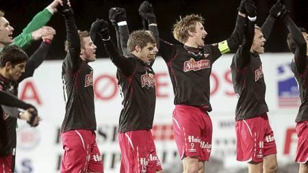 KAN RYKKE OPP: Fredrikstad kan rykke opp til Tippeligaen. (Foto: Bendiksby, Terje/Scanpix)