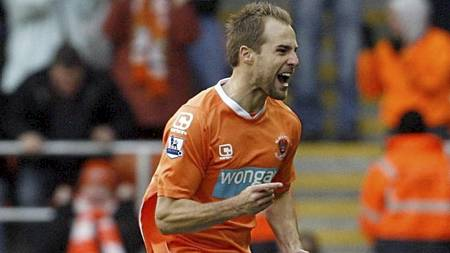 Halvesongens scoring: Luke Varney (Blackpool) (Foto: Mark Robinson/Ap)