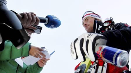 MEDIEYNDLING: Petter Northug er et ettertraktet intervjuobjekt. (Foto: Larsen, Håkon Mosvold/Scanpix)