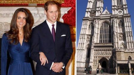 KLART FOR BRYLLUP: Prins William skal gifte seg med sin Cathrine «Kate» Middleton 29. april 2011. (Foto: Montasje)