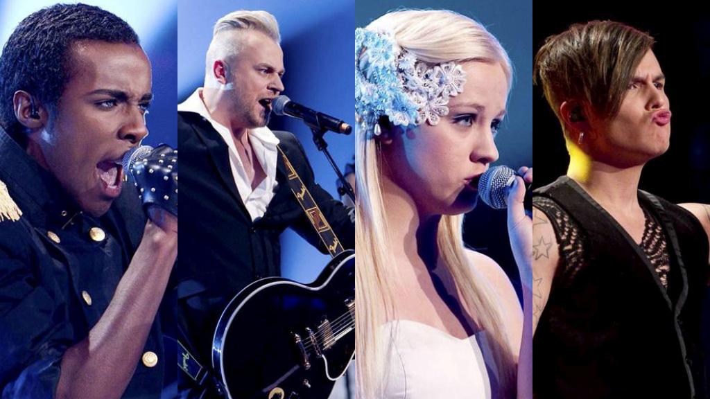 Mo, Hans Bollandsås, Annsofi Pettersen og Atle Pettersen er semifinalister i «X Factor 2010». Tre av dem får opptre i finalen 10. og 11. desember. (Foto: Thomas Reisæter)