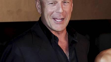 Action-helt Bruce Willis ved lanseringen av Die Hard 4.0 i Tokyo sommeren 2007. (Foto: Itsuo Inouye/AP)