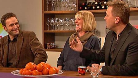 Arild Hermstad, Kristin Skogheim og Einar Øverenget om julegaver og overforbruk. (Foto: TV 2)