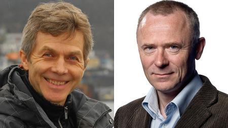 MOTTOK PRIS: Kåre Breivik (t.v.) og Per Kristian Orset.  (Foto: TV 2)