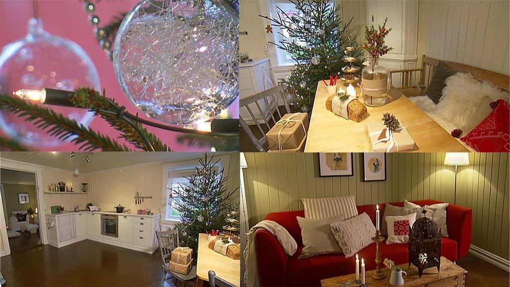 Publikumsvinneren av «Norges vakreste hjem» er pyntet til jul (Foto: TV 2)