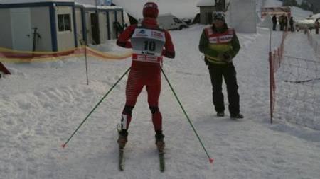 RASENDE: Martin Johnsrud Sundby var lite snakkesalig etter å ha brutt lørdagens 30 kilometer. (Foto: TV 2/)