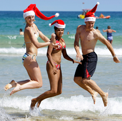 På den sørlige halvkule er det sommer 24. desember. (Foto: AP)