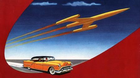 Fra fabrikkbrosjyren for 1954 Oldsmobile