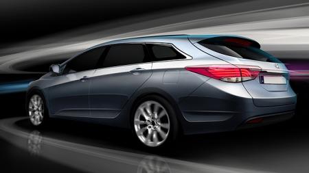 Dette er i40 - Hyundais nye modell i Passat-klassen. Stasjonsvogna ser bra ut og skal bli en tøff nøtt for mange av konkurrentene.