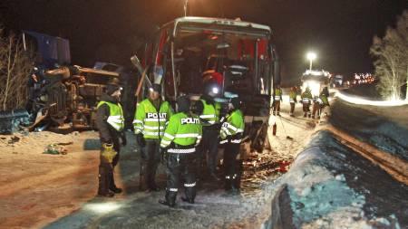 lavangsdalen buss ulykke (Foto: Tom Benjaminsen/SCANPIX)