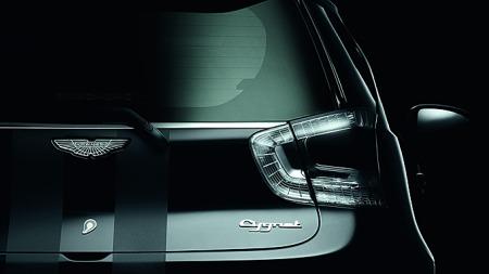Det er lagt mye arbeid i detaljene på Cygnet. Likevel er det ikke en karosseriform som du ville ventet å finne Aston Martins logo på.