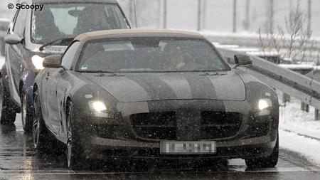 Mercedes SLS Cabrio 001 (Foto: Scoopy)